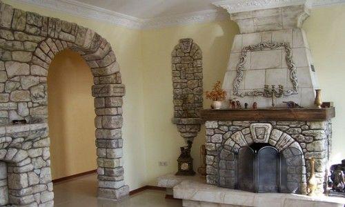 Опалення вітальні за допомогою каміна
