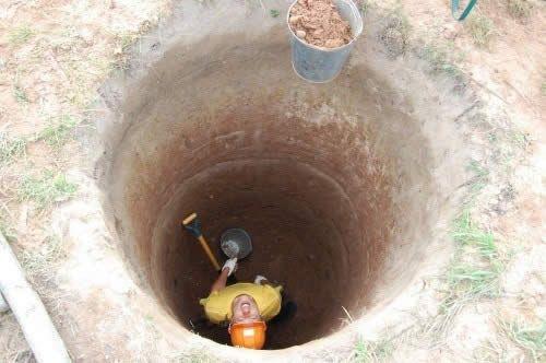 Робота в шахті колодязя