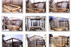 Фото - Будівництво парника з віконних рам