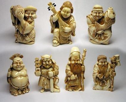 Фото - Талісмани фен-шуй сім богів щастя