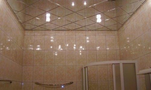 Фото - Технології обробки стелі у ванній кімнаті