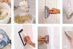 Процес шпаклівки стіни
