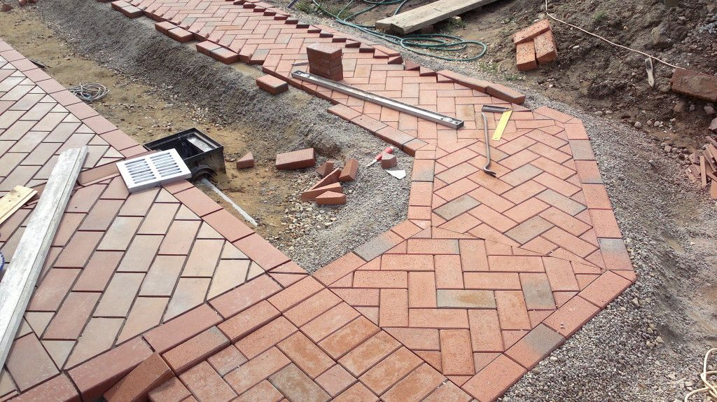 Технологія облаштування території із застосуванням клінкерної бруківки та тротуарної плитки