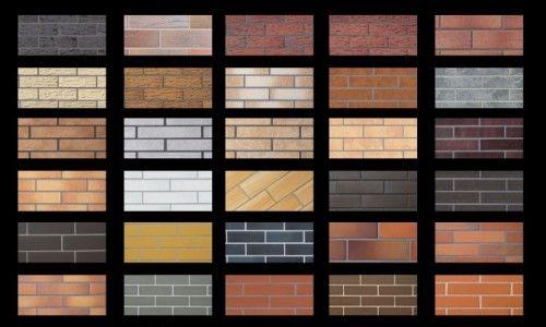 Клінкерна плитка різного дизайну