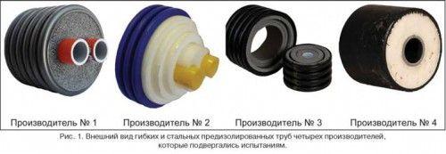 Види теплоізольованих труб