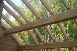 Приклад кроквяної системи напівкруглої даху