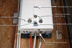 Схема монтажу проточного газового нагрівача