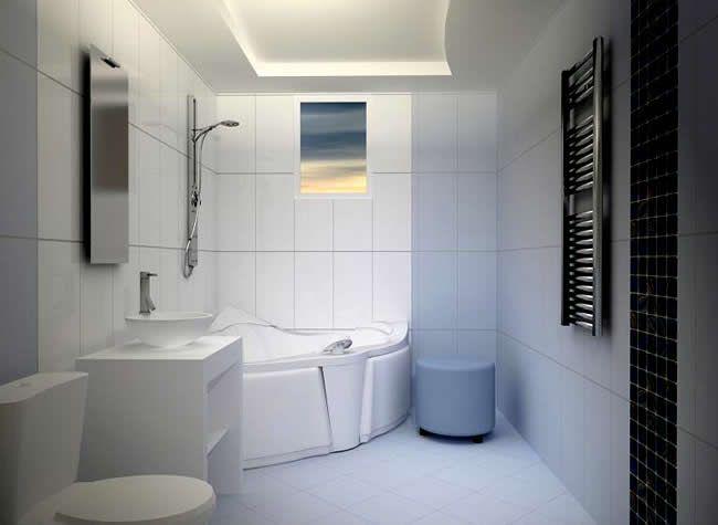 Фото - Затишні стелі з гіпсокартону у ванній кімнаті своїми руками