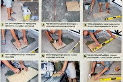 Етапи укладання плитки на підлогу