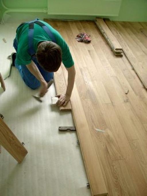 Фото - Укладання паркету на дерев'яну підлогу