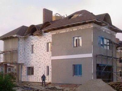 Обшивка будинку пінопластом