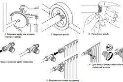 Схема підключення терморегулятора до батареї