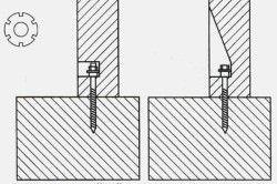 Схема кріплення балясин на тятиву.