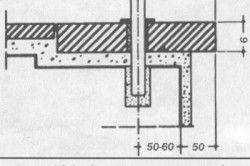 Схема кріплення балясин до залізобетонної основі ступенів