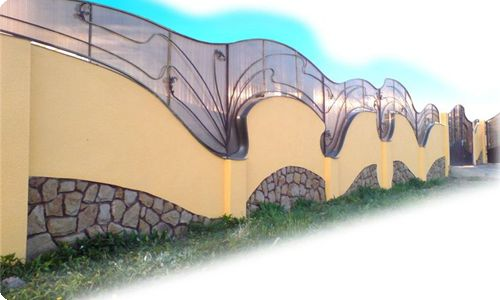 Фото - Установка бетонної огорожі
