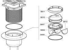 Схема монтажу триходового крана Т-типу без підводки