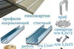 Матеріали для монтажу гіпсокартонних стель