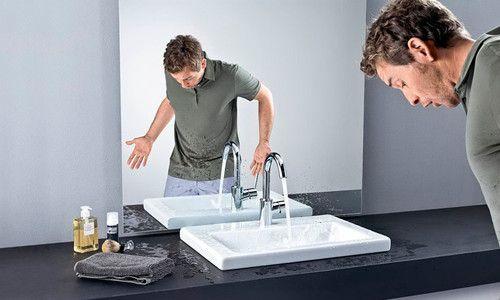 Фото - Установка змішувача в раковину і мийку