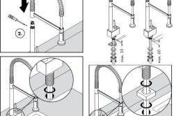 Схема монтажу змішувачів