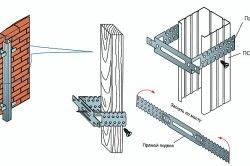 Кріплення металевого профілю для сайдингу