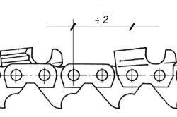 Крок ланцюга бензопили