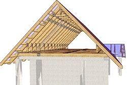 пристрій двосхилим даху
