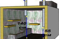 Схема монтажу вентиляційних труб в погребі