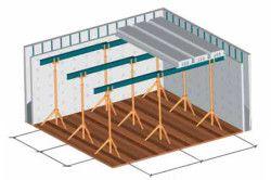 Схема міжповерхового бетонного перекриття