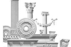 У магазинах є художні елементи, які імітують ліпнину і декор, створені для фасадів.