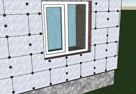 Утеплення шлакоблокового будинку під штукатурку