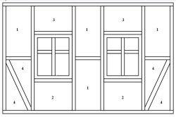 Схема розташування форм для утеплювального матеріалу