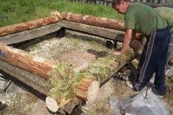 До натуральних утеплювачів відноситься мох. Утеплювати їм найкраще при будівництві лазні.