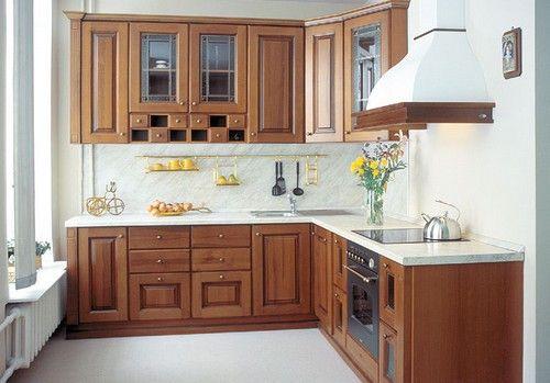 Розташування меблів у маленької квадратної кухні