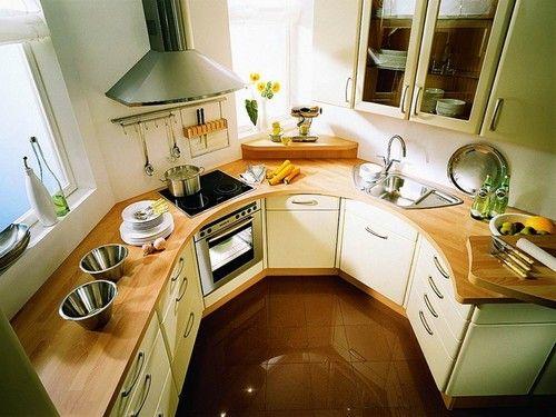 Меблі для маленької кухні нестандартного планування