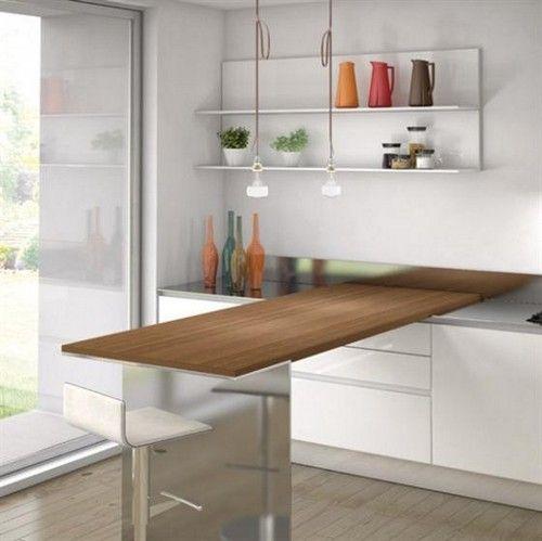Висувна стільниця для маленької кухні фото