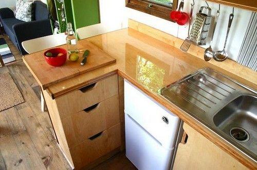 сучасний дизайн маленької кухні фото