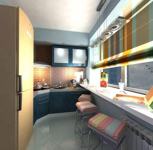 Маленька кухня на балконі фото