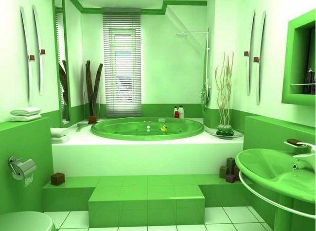 Ванна кімната із захованими трубами