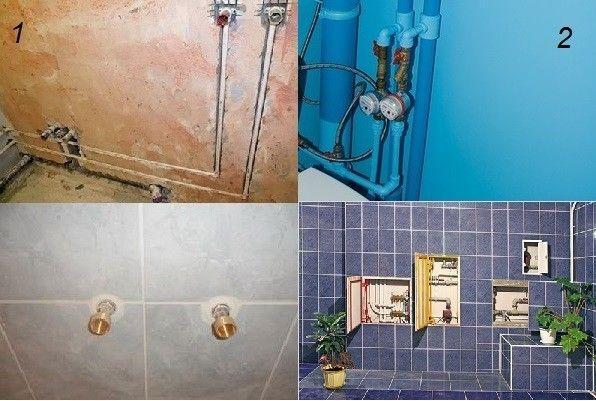 Труби, зєднання і прилади у ванній кімнаті
