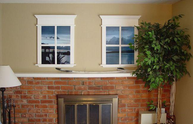 Фото - Варіанти дизайну фальш вікна
