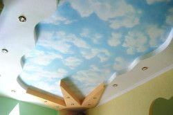 Обємна розпис стелі в дитячій кімнаті