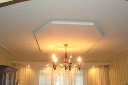 Дизайн стелі в вітальні в класичному стилі