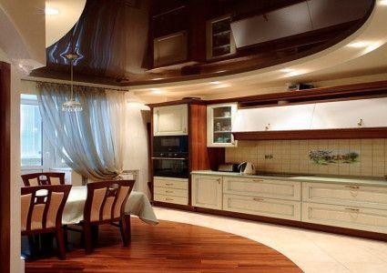 Стеля на кухні з гіпсокартону