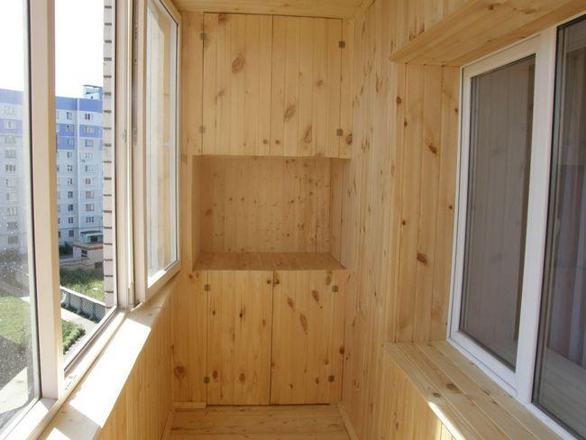 Варіанти внутрішнього оздоблення балкона