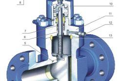 Схема пристрою вентиля