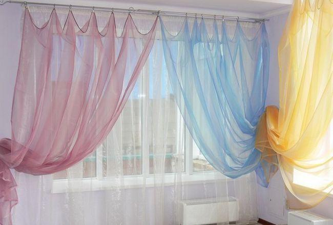 Фото - Види декоративних гардин для штор