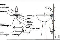 Схема підключення автоматичного сенсорного змішувача