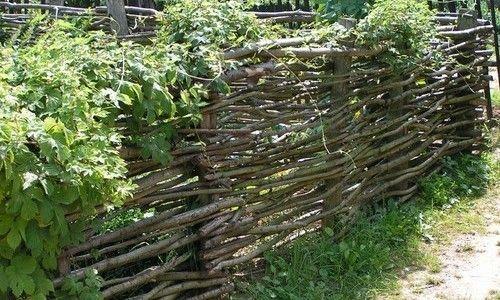 Фото - Види і технологія виготовлення парканів плетених