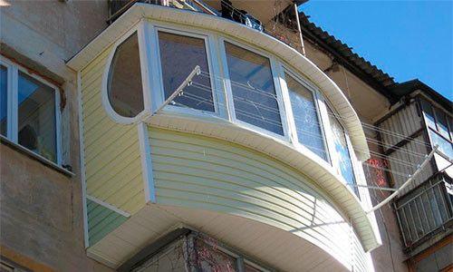 Фото - Види матеріалів для зовнішньої обробки балкона
