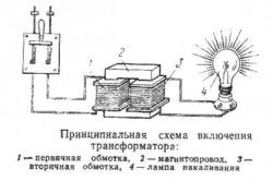 Схема включення трансформатора
